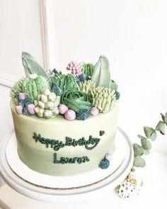 Incredibly Real-Looking Succulent Cupcakes by Brooklyn Floral Delight Bakery - KickAss Things Pretty Cakes, Cute Cakes, Mini Cakes, Cupcake Cakes, Cactus Cake, Cactus Cactus, Succulent Cupcakes, Salty Cake, Brooklyn