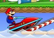 Mario JetSki:Aunque a Mario le gusta mas tierra firme, a veces, hace sus pinitos en el agua.Se ha comprado una moto de agua y está disfrutando como un niño.