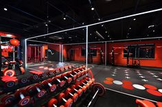 Gym Lighting, Linear Lighting, Gym Interior, Interior Design, Gym Design, House Design, Epoxy Resin Flooring, Home Gym Basement, Gym Decor
