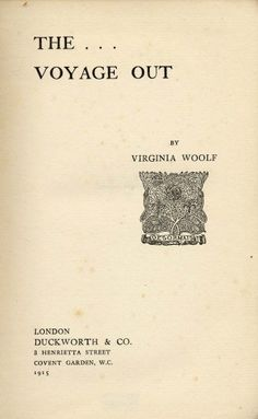 """Cover of the first edition of """"The Voyage Out"""" circa 1915"""