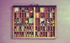 I have been looking for a printer's type drawer for eight years. This is: tiny things. by RachelSandoffsky, via Flickr