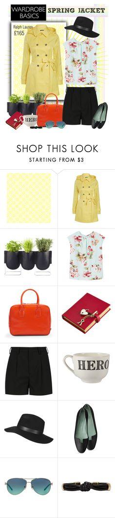 """wardrobe basics: Spring Jacket"" by gokarm ❤ liked on Polyvore featuring Lauren Ralph Lauren, Authentics, MANGO, Bill Blass, Amara, Yves Saint Laurent, Sir/Madam, Topshop, Tiffany & Co. and Isabel Marant"