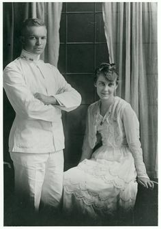 """July 1, 1916: Dwight D. """"Ike"""" and Mamie Eisenhower's Wedding portrait."""