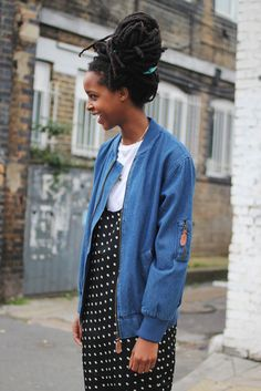 Denim Bomber Jacket Blue now HALF PRICE at THE WHITEPEPPER http://www.thewhitepepper.com/collections/coats-jackets/products/denim-bomber-jacket-blue-1