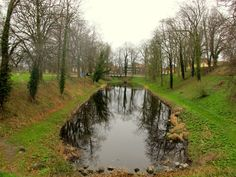 Close to #Nyborg castle, Funen Denmark, Home of the Danehof #visitfyn The #moat is a deep, broad #ditch filled with water, that surrounds Nyborg Castle #fortifications
