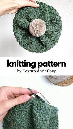 Knit Hat Pattern Easy, Beanie Knitting Patterns Free, Easy Knit Hat, Beanie Pattern Free, Beginner Knitting Patterns, Knit Headband Pattern, Knitted Hats Kids, Knitting Ideas, Slouchy Beanie Knitting Pattern