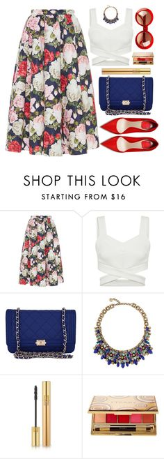 """""""Untitled #4384"""" by natalyasidunova ❤ liked on Polyvore featuring Blugirl, Sonia Rykiel, Chanel, Stella & Dot, Yves Saint Laurent and By Terry"""