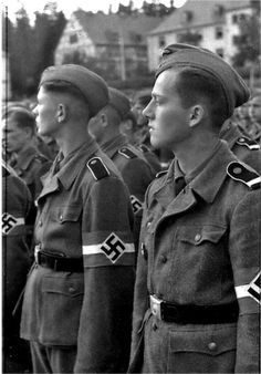 """New recruits of the 12th SS """"Hitlerjugend"""" Division, Germany, Spring 1943."""