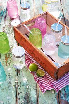 Limonaden Gläser von Impressionen