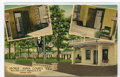 George Anna Courts Motel Jackson Tennessee linen postcard
