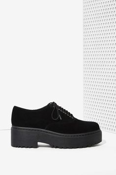 Jeffrey Campbell Baird Suede Lug Shoe | Shop What's New at Nasty Gal
