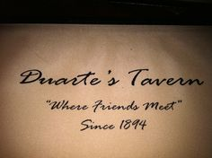 We love Duarte's Tavern, in Pescadero, especially the fried Artichokes and the Harley Farms Raviolis.