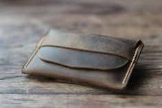 Men's Distressed Leather Wallets  Unique Groomsmen by JooJoobs, $29.00
