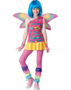 Rainbow Fairy Girls Costume
