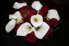 Calla Lily and Rose Bridal Bouquet