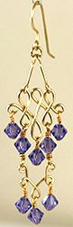 Different version of the Modified Classic Jewelry Wire & Beads Chandelier Earrings (with bicone beads).