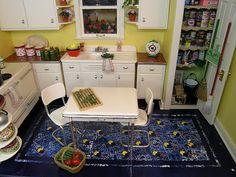 vintage miniature kitchen
