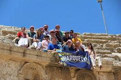 Students representing Marquette in Amman, Jordan. Photo by John Peter McDonald.