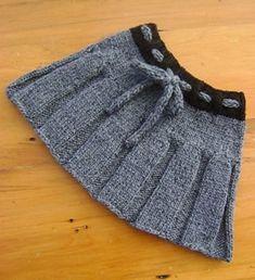New Ideas Knitting Baby Dress Pattern Crochet Girls Baby Girl Skirts, Baby Skirt, Baby Dresses, Knitting Baby Girl, Baby Knitting Patterns, Crochet Patterns, Knit Baby Sweaters, Girls Sweaters, Knitting Sweaters