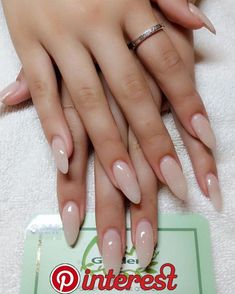 64 Chic Natural Almond Acrylic Nails Shape Design You Won't Resist This Spring… – Nails If you want to have beautiful hands, you should know how to choose the best nail shape for your fingers. Almond Acrylic Nails, Cute Acrylic Nails, Cute Nails, Pretty Nails, Long Almond Nails, Almond Shape Nails, Rounded Acrylic Nails, Cute Almond Nails, Acrylic Nail Shapes