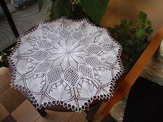Lubię leniuchować: Wzory na serwety na drutach