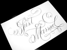 Just Married announcement after eloping
