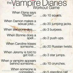 Vampire diaries workout game