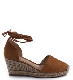 ESPADRILLE ANABELA LACE UP BAMBOO