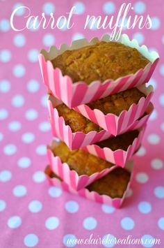 Carrot muffins via Claire K Creations www.clairekcreations.com