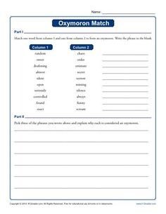 Visual Irony | Worksheets, Figurative language and Activities