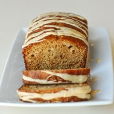 Caramel glazed apple bread. Sounds like the perfect fall treat.