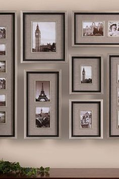 A unique way to display vacation photos Massena Photo Collage - 7-Piece Set by Uttermost on @HauteLook