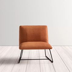 Providing additional seating options in your teen's bedroom or dorm while lending a touch of mid-century-inspired style, this slipper chair is a must-have! Crafted from a sleek metal frame, it features foam-filled faux leather upholstery awash in a solid neutral finish for a look that won't easily clash with your current color palette. It's ideal for perching while lacing up kicks before heading out for the day. Apartment Furniture, Living Room Furniture, Living Room Decor, Chair Upholstery, All Modern, Side Chairs, Accent Chairs, Slipper, Manila