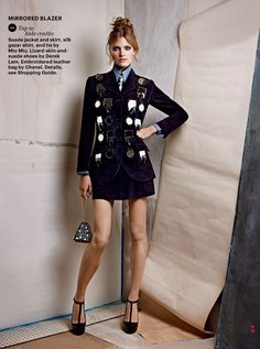 more is more: constance jablonski by patrick demarchelier for allure october 2012