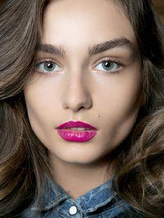 Fashion color lipstick winter 2013 // Raspberry