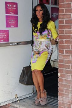 Celeb Stylist June Ambrose at the Wendy William's show in 2012 #streetstyle