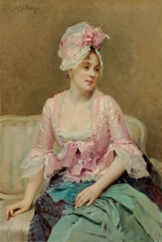 Raimundo De Madrazo - Lady in Pink (1853)