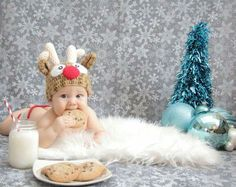 Baby& first Christmas. Cookies and milk f. Baby's First Christmas Card, Baby Christmas Photos, Christmas Card Pictures, Xmas Photos, Holiday Pictures, Babies First Christmas, Christmas Photo Cards, Foto Baby, Christmas Photography