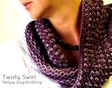 """How about making this beautiful lightweight scarf using our Ruca yarns which are made out of 100% vicose (sourced from sugar cane)! A sugar scarf? Yes please :) Pattern is labeled under """"Twisty Swirl"""" in link. Enjoy!"""