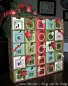 """Busy with the Cricky - Close to my Heart Advent Calendar kit kicked up a notch and """"susan-ized""""!!"""