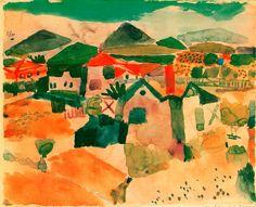 Vista de Saint- Germain. 1914. Obra de Paul Klee