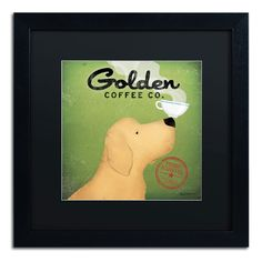 'Golden Coffee Co' by Ryan Fowler Framed Graphic Art
