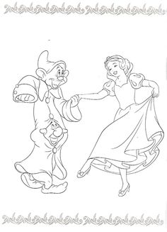 Princess Coloring Disney Pages Character Drawing Snow White Colouring In Princesses Seven Dwarfs Sheets
