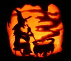 Halloween Witch Cauldron Pumpkin Carving designs 30+ Best Cool, Creative & Scary Halloween Pumpkin Carving Ideas 2013
