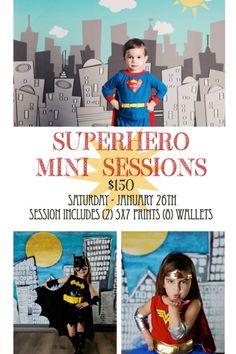 Superhero mini session  (cute theme!)