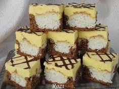 Rozi Erdélyi konyhája: Kókusz petty Sweet Recipes, Cake Recipes, Dessert Recipes, Hungarian Recipes, Cake Bars, Food Cakes, Easter Recipes, Cake Cookies, Cupcakes