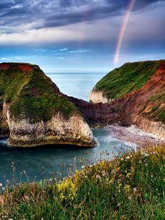 ☀Flamborough, England, United Kingdom ~ Flamborough Head Rainbow - Explored 28/08/13 by mark_mullen