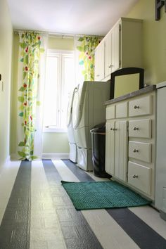 Cheap Laundry Room Renovation by Designer Trapped in a Lawyer's Body {www.designertrapped.com}