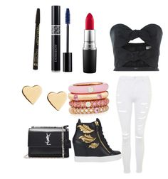 """super"" by moda-makeup ❤ liked on Polyvore featuring beauty, Carolina Herrera, Giuseppe Zanotti, Topshop, Christian Dior, Adolfo Courrier, MAC Cosmetics, Yves Saint Laurent and Lipsy"