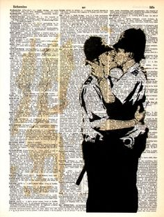 """Dictionary Art Print, Vintage Gift Digital Drawing poster,wall decor, Office decor, Home & Living, Art Collectibles """"Admiration for Banksy""""6"""